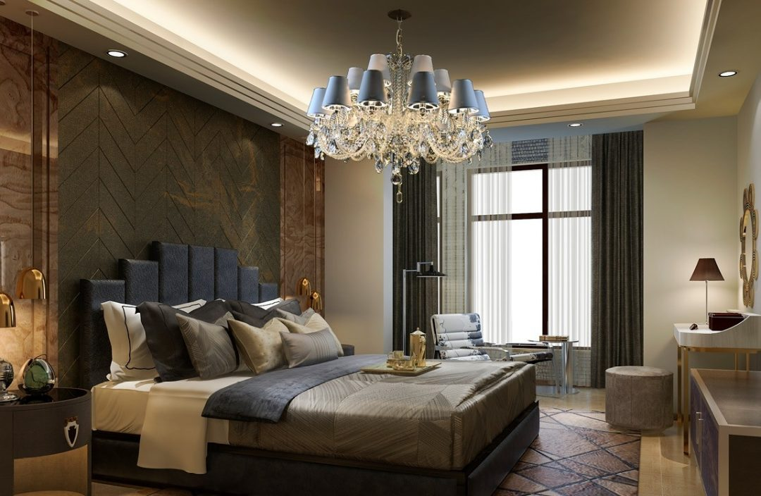 luxury chandelier with shades