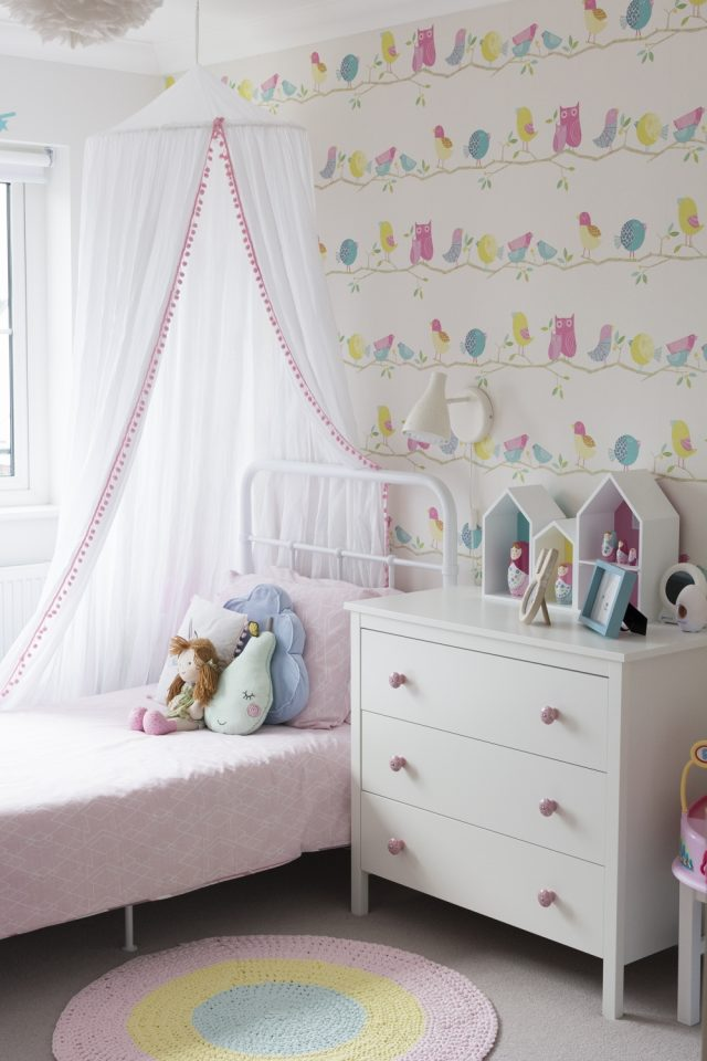 toddler bedroom set up and decor