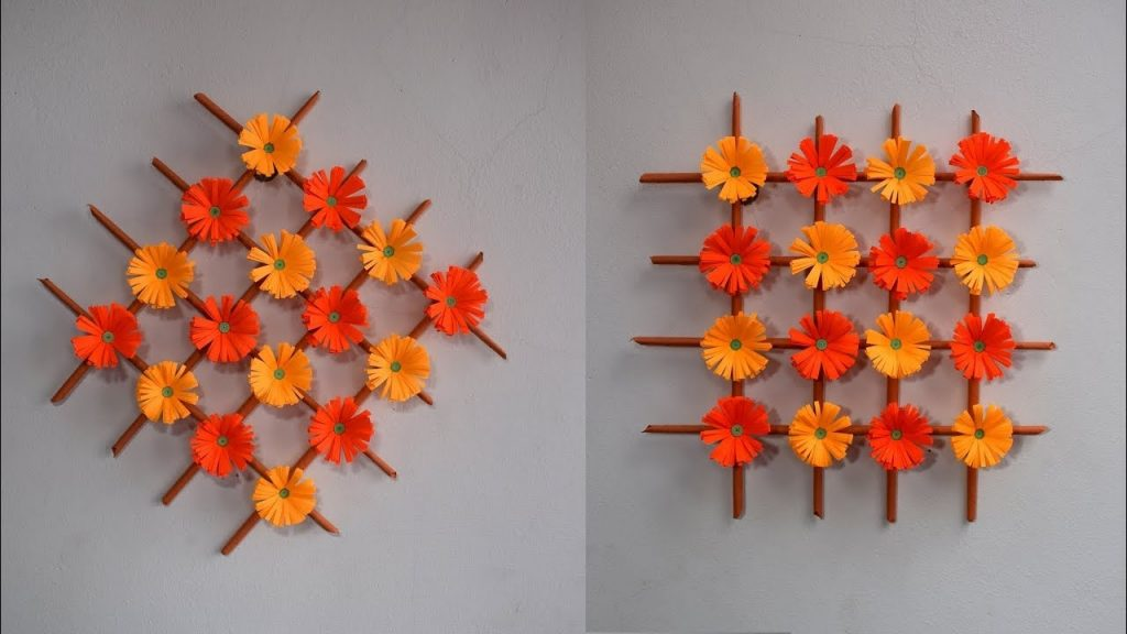 wall hanging handmade paper flower decoration