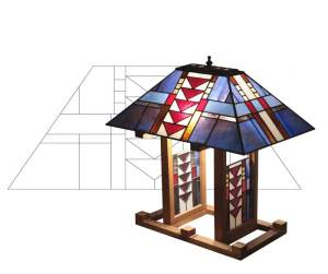 5401 Triangles lampshade pattern