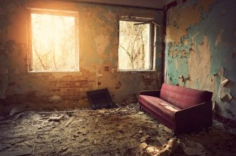 Abandoned House Living Room