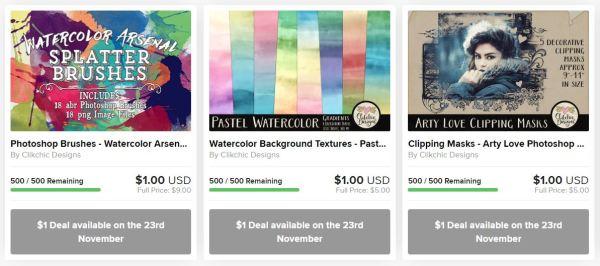 Black Friday $1 Deal Sale on Design Bundles