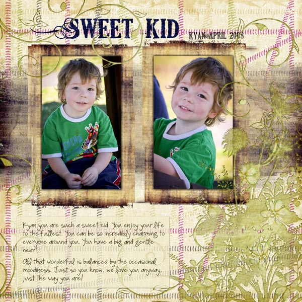 Grunge Wildflower Layered Photoshop Template