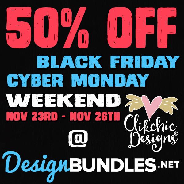 50% Off Black Friday Cyber Monday Weekend SALE @ Design Bundles