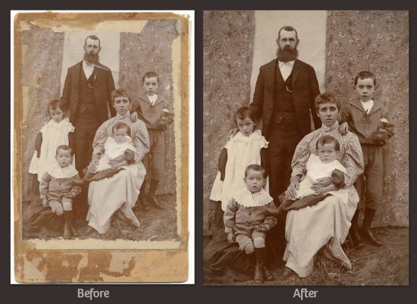Photo Restoration Before and After