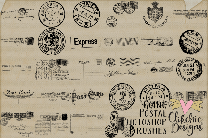Going Postal Vintage Photoshop Brushes