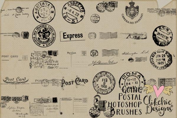 Going Postal Vintage Photoshop Brushes