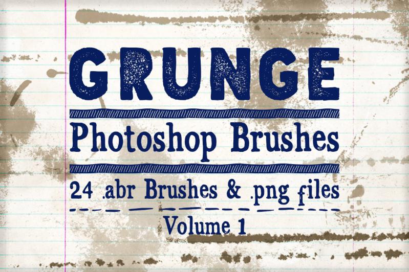 Grunge Photoshop Brushes Volume 1