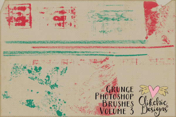 Grunge Photoshop Brushes Volume 3