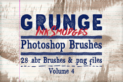 Grunge Ink Smudges Photoshop Brushes Vol 4