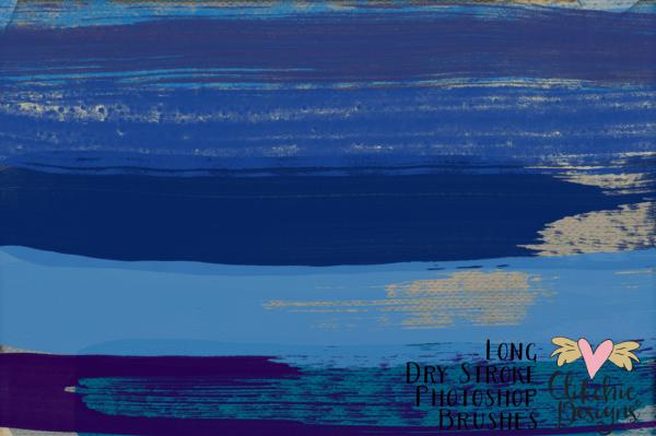 Long Dry Paint Stroke Photoshop Brushes