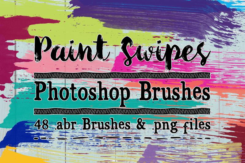 Paint Swipes Photoshop Brushes