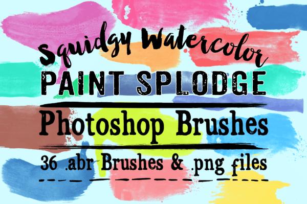 Squidgy Paint Splodge Photoshop Brushes