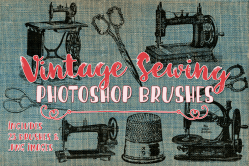 Vintage Sewing Photoshop Brushes