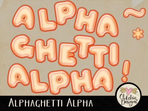 Alphaghetti Spaghetti Digital Scrapbook Alpha