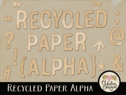 Recycled Paper Digital Scrapbook Alpha