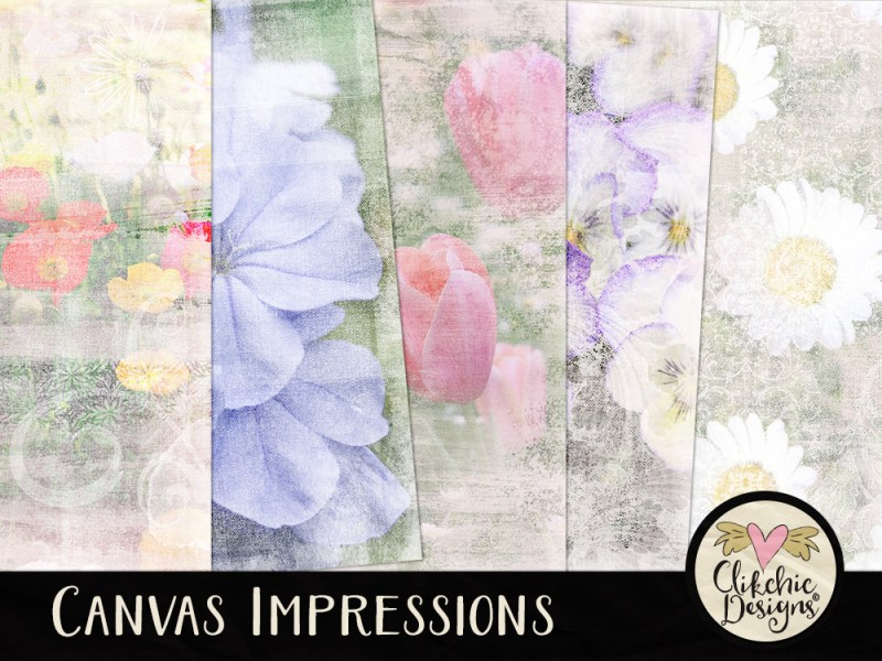 Canvas Impressions Digital Scrapbook Paper Pack