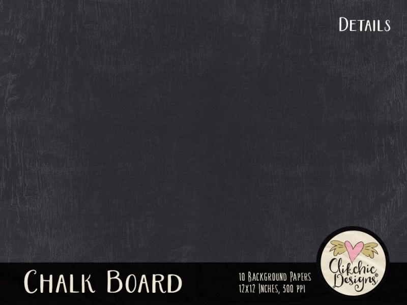 Chalkboard Digital Scrapbook Paper Pack