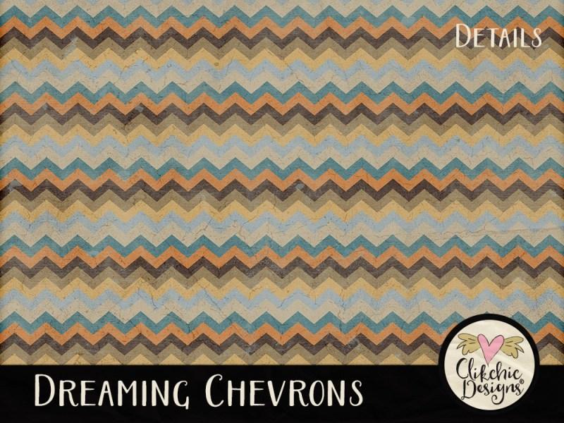 Dreaming Chevron Digital Scrapbook Paper Pack