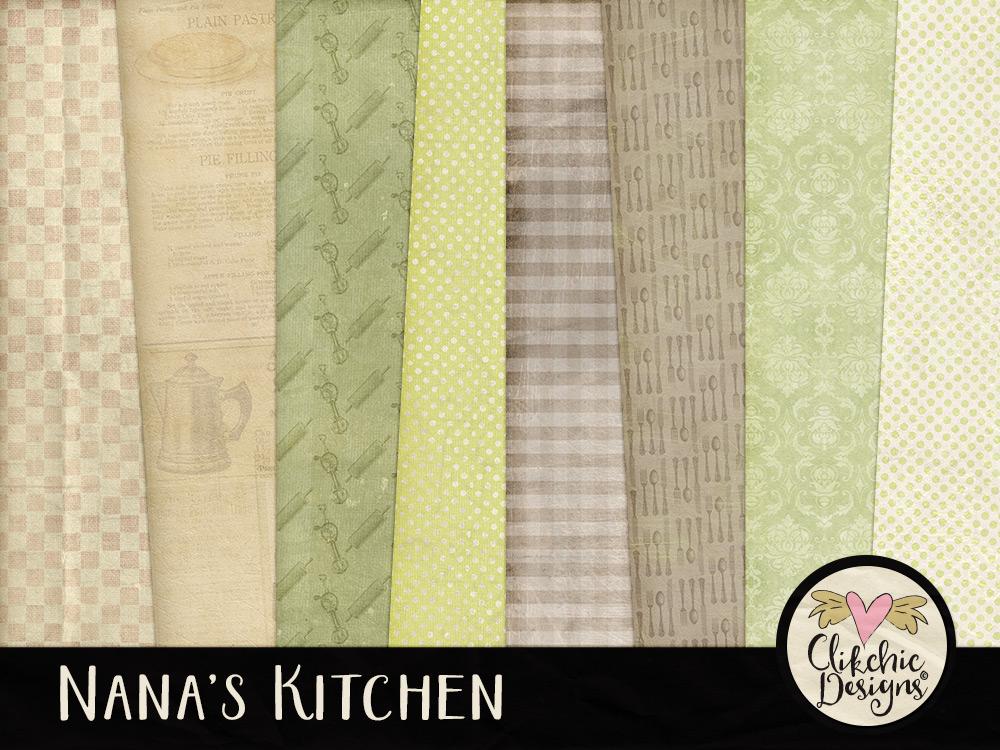 Nana's Kitchen Digital Paper Pack