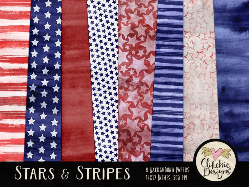 Stars and Stripes Digital Paper Pack