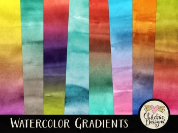 Watercolor Gradients Background Textures