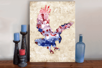American Eagle Patriot USA Art Canvas