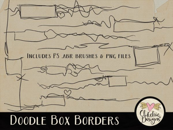 Doodle Box Borders and Photoshop Brushes