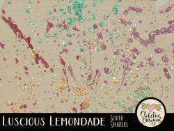 Luscious Lemonade Glitter Splatters