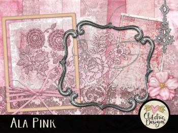 Ala Pink Digital Scrapbook Kit