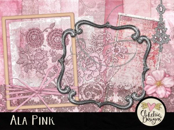 Ala Pink Digital Scrapbook Kit