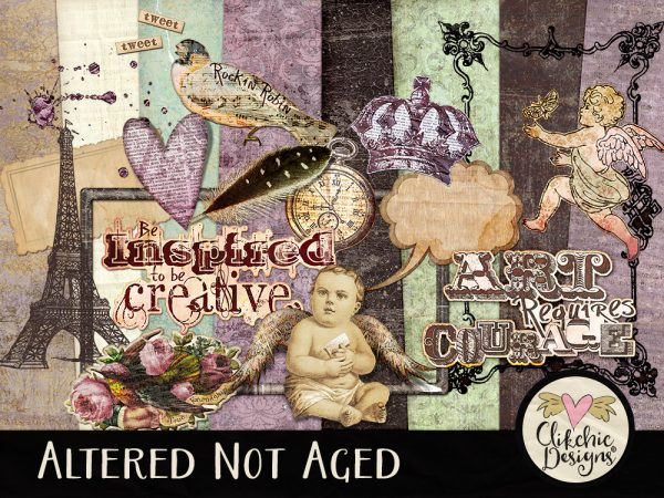 Altered Not Aged Digital Scrapbook Kit