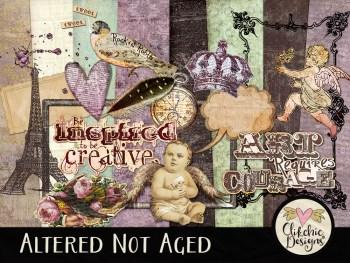 Altered Not Aged Digital Scrapbook Kit