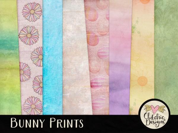 Bunny Prints Digital Scrapbook Kit