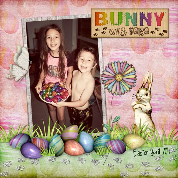 Bunny Prints Digital Scrapbook Layout
