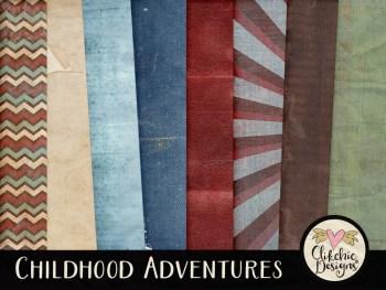 Childhood Adventures Digital Scrapbook Kit