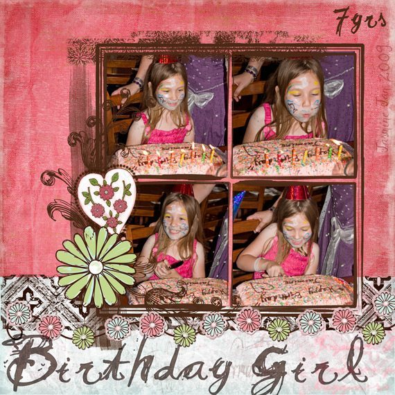 Choc Watermelon Digital Scrapbook Layout