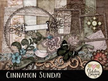 Cinnamon Sunday Digital Scrapbook Kit
