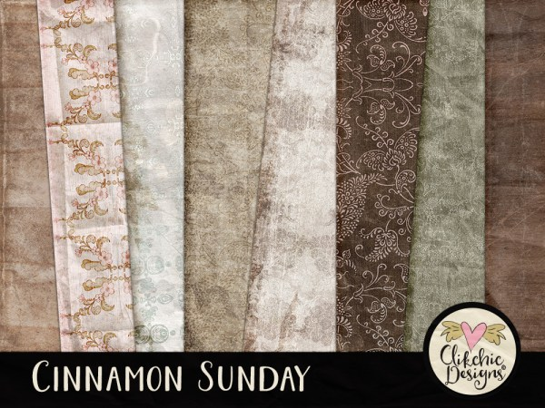 Cinnamon Sunday Digital Scrapbook Kit
