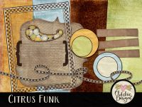 Citrus Funk Digital Scrapbook Kit Freebie