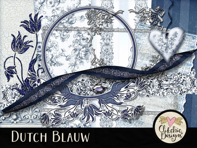 Dutch Blauw Digital Scrapbook Kit