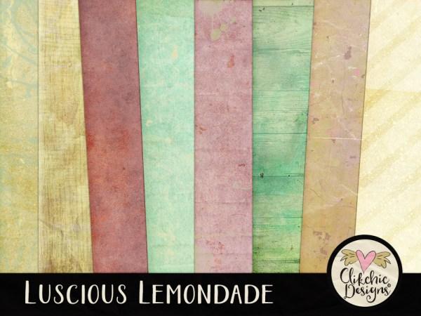 Luscious Lemonade Digital Scrapbook Kit