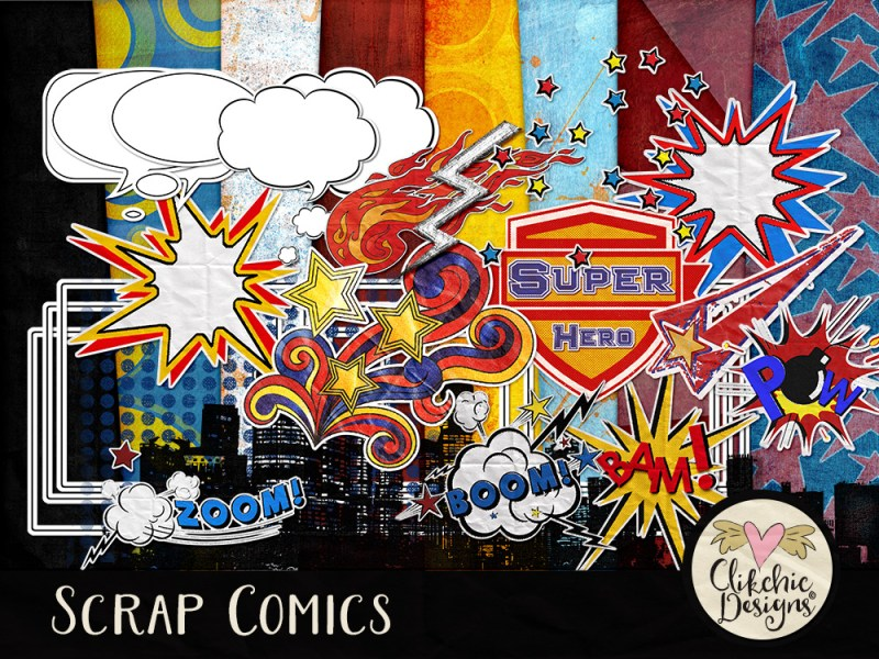 Scrap Comics Digital Scrapbook Kit