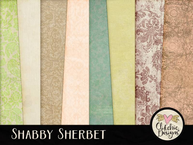 Shabby Sherbet Digital Scrapbook Kit