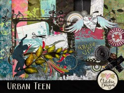 Urban Teen Digital Scrapbook Kit
