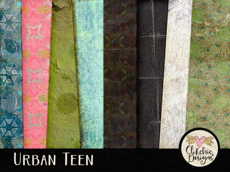 Urban Teen Digital Scrapbook Kit