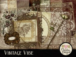 Vintage Vibe Digital Scrapbook Kit