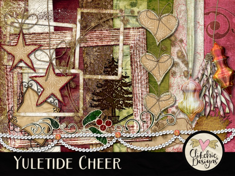Yuletide Cheer Digital Scrapbook Kit