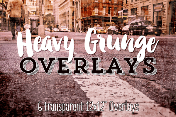Heavy Grunge Design & Photography Overlays