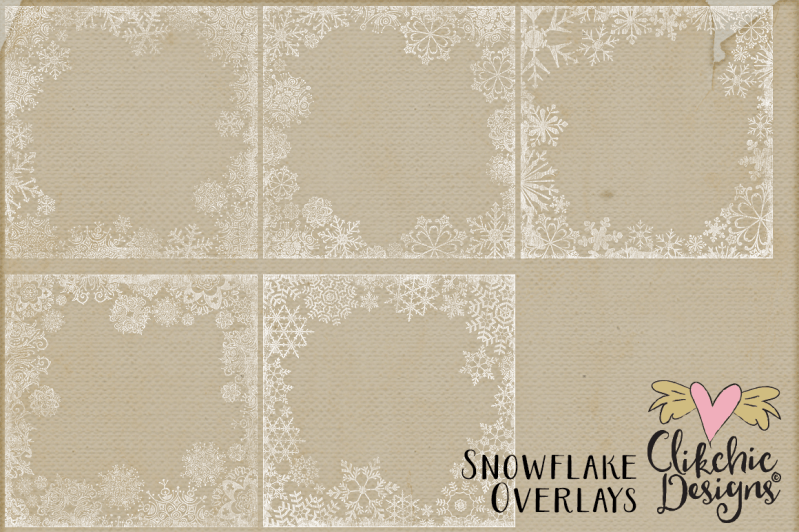 Snowflake Transparent Texture Overlays